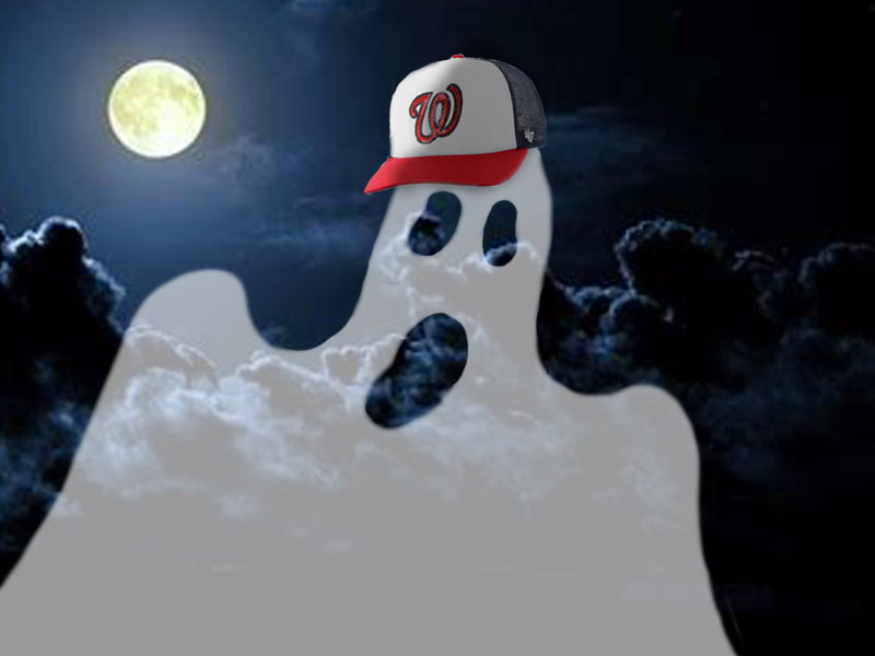 Ghost haunting the Washington Nationals stadium.