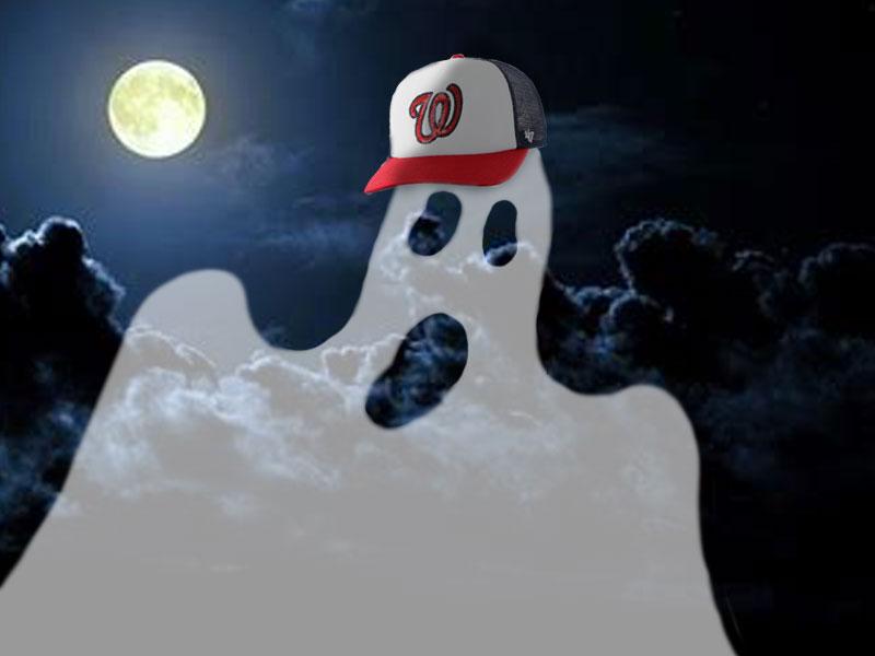 Ghost haunting the Washington Nationals stadium.